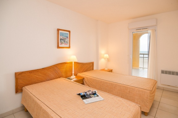 Valras Plage - Alizea Beach - Chambre lit simple